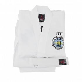 Униформа для тхэквондо ITF. White Belt Senior тм Khan