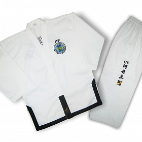 Добок Sasung для Тхэквондо ИТФ, Taekwondo uniform ITF Dodok Black belt (тм Sasung)